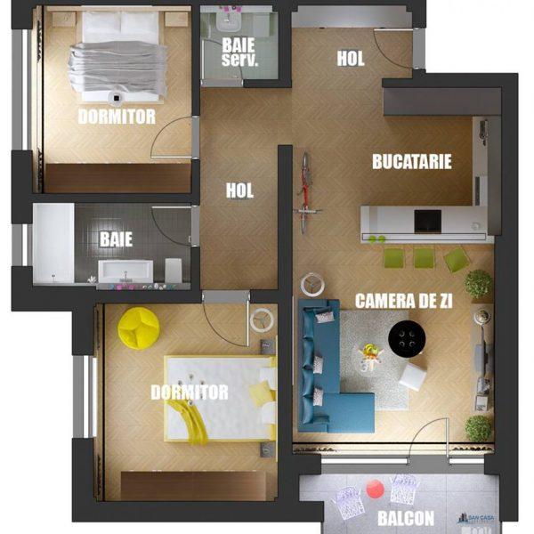 exemplu apartament atmosphere residence